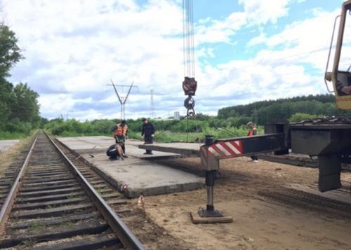 Строительство дороги КТО и временного причала (2)